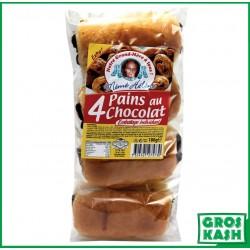 Pain Chocolat x4 sachet 180gr kasher parve IHOUD HARABBANIM