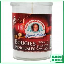 48h Bougies boite en verre MEME HELENE kosher lepessah