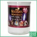 48h Bougies Orli en verre kosher lepessah