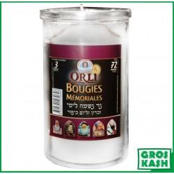 72 Heures Bougie verre kosher lepessah