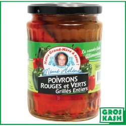 Poivron Rouge/Vert Grille coupe 580ml kasher lepessah