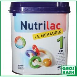 Nutrilac Le Mehadrin 1er âge 0/6 mois 400gr kosher BADATZ EDEI HAREDI