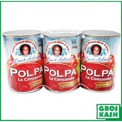 Lot de 3 Polpa Tomates Concassées 400 G kasher le pessah BADATZ IHOUD