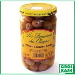 Olives Cassées Citron 72cl kasher le pessah