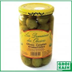 Olives Cassées Armatisées Domaines de Olivier 72cl kasher le pessah