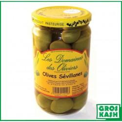 Olives Vertes Sevillanes Domaines de Olivier 72 CL kasher lepessah