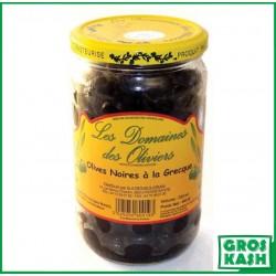 Olives Noires façon grec Domaines de Olivier 72cl kasher le pessah