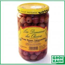 Olives Roses Denoyautées 72cl kasher le pessah