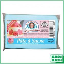 Pâte à sucre couleur bleu pastel 250gr kasher