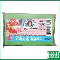 Pâte à sucre couleur vert pastel 250gr kasher