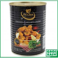 Olives Casses au Zaahtar 560gr kasher lepessah HATAM SOFER