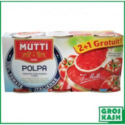Polpa Tomate Concassée 3x 400 G kasher lepessah BADATZ BETH YOSSEF