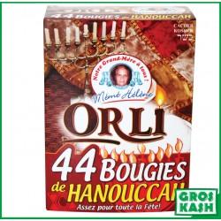 44 Bougies de Hannouka pour les 8 jrs kosher