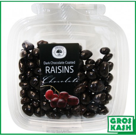 Raisins Enrobes Chocolat Noir 160gr kasher lepessah HATA