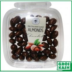 Amandes Enrobes Chocolat Lait 160gr kasher lepessah HATA