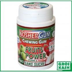 Chewing Gum Sans Sucre fruits Fraise Pomme kosher lepessah RABBI HOD