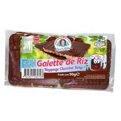 Galette de Riz Nappe Chocolat Belge 90gr kasher lepessah MH