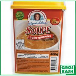 Soupe goût Oignon 400gr Mémé Hélène kasher lepessah IHOUD HARABBANIM