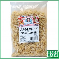 Amande Blanchi en Bâtonnet 150 G kasher lepessah IHOUD HARABANIM LAMEHADRINE