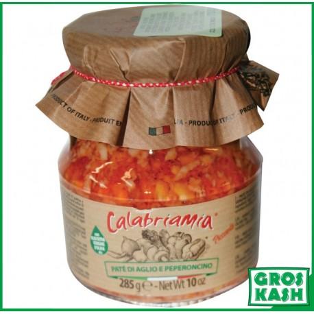 Creme de piment a l'Ail avec huile d'olives 314ml kasher lepessah