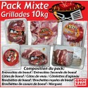 Pack Mixte Grillade 10 kg kasher lepessah