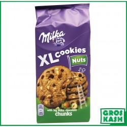 Milka XL Cookies aux Chocolat et Noisette 184 G kasher RAV HOD