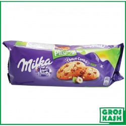 Milka Pieguski Cookies aux Pepite de Chocolat et Noisette 135 G kasher HALAVIE RABBI HOD