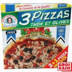 Pizza Parvé kasher 2+1 Gratuit au Thon Olives 300 G X3 soit 900 G RAV ELMALEH DE MILAN