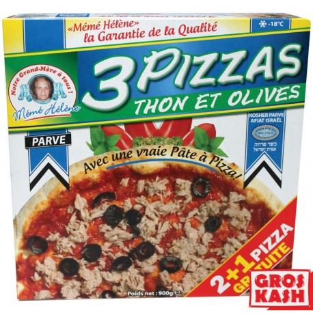 Pizza parvé 2+1 gratuit au thon olives