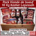 Pack Viande Boeuf Kasher Lepessah