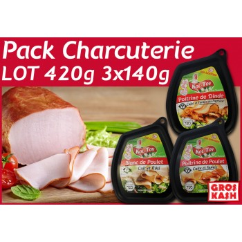 PACK CHARCUTERIE 420g 3x140g KASHER LEPESSAH