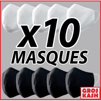 10 MASQUES AVEC 3 COUCHES...
