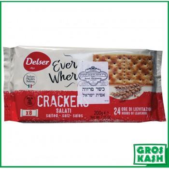 Crackers Italien salés 200gr kasher BADATZ IHOUD HARABANIM