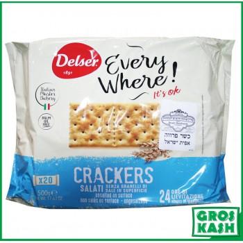 Crackers Italien non salés 500gr kasher BADATZ IHOUD HARABANIM