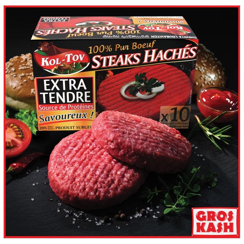 Steak Haché Kol-Tov 800gr pur Boeuf Glad Shritta Loubavitch Badatz IHOUD