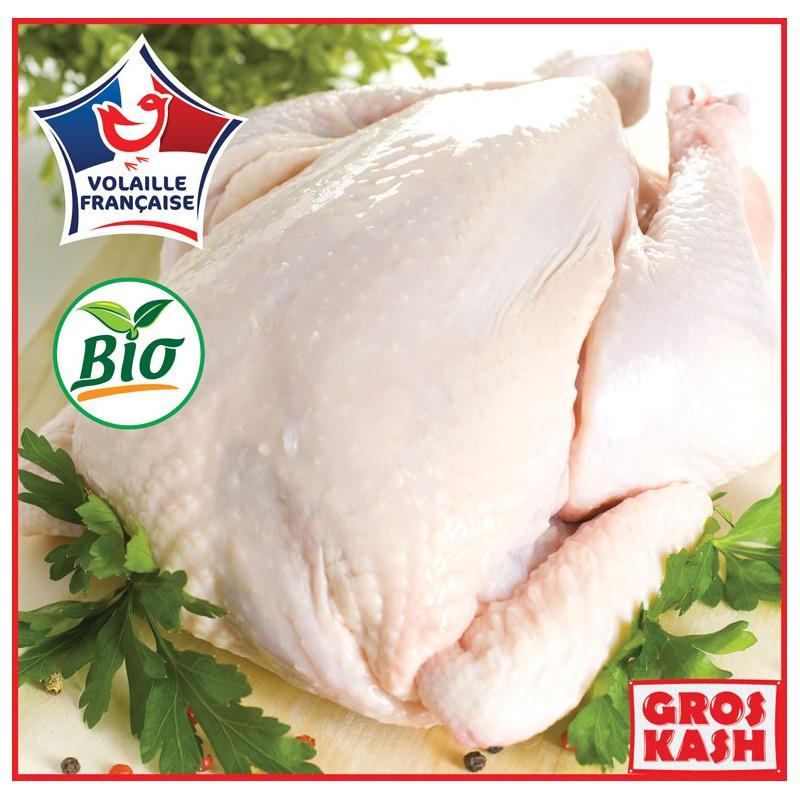 Poulet Entier BIO PAC environs 2kg Surgelé kasher Lepessah