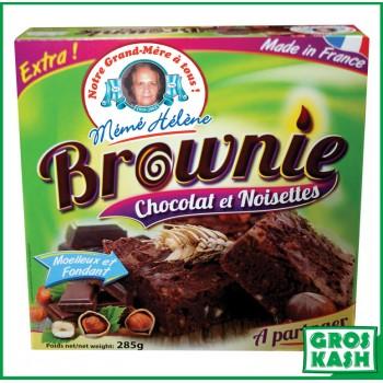 Brownies Choco / Noisette 285gr kasher lepessah