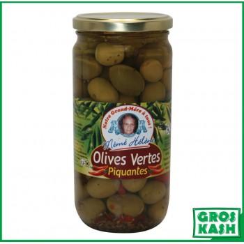 Olives vertes piquantes...