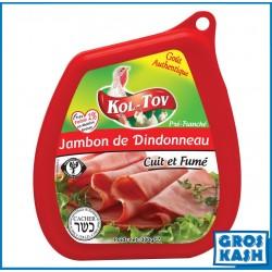 Jambon de Dindonneau fumé 300gr kasher lepessah RABBINAT D'ISRAEL MATÉ ASHER
