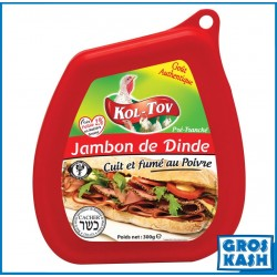Jambon Dinde aux Poivres kasher lepessah MATÉ ASHER