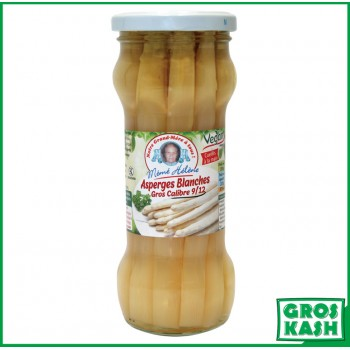 Asperges blanches extra 370 ml kasher lepessah Ihoud