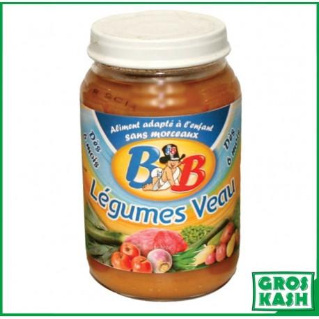 Petits Pots Bébé Veau Legumes 200gr kosher lepessah RAV WOLFF