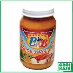 Petits Pots Bébé Legumes Veau Riz 200gr kosher lepessah RAV WOLF
