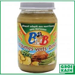 Petits Pots Bébé Legumes verts Dinde 200gr kosher lepessah RAV WOLFF