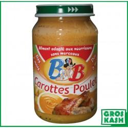 Petits Pots Bébé Poulet Carottes 200gr kosher lepessah RAV WOLFF