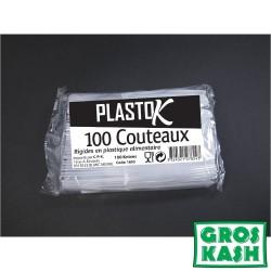 Couteaux Plastique 100 pieces kosher lepessah