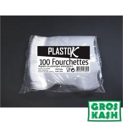 Fourchettes plastiques 100 pieces kosher lepessah