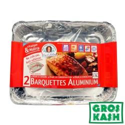 Barquettes aluminium MEME HELENE lot de 2 x 3.5L kosher lepessah