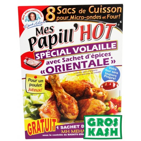 Papill'Hote Volaille Oriental +8 sac de cuisson kosher