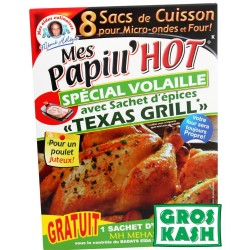 Papill'Hote Texas Grill +8 sac de cuisson kosher